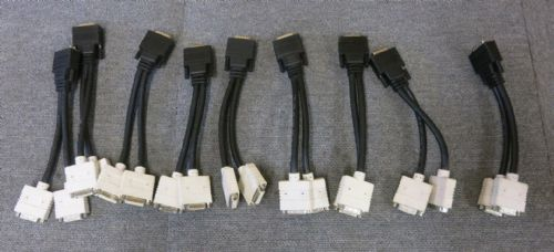 Job Lot 9 x Kentek DVII-FX2-8I DMS-59 M To Dual DVI-I F Splitter Y Adapter Cable